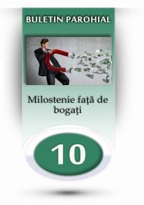 nr.10 - milostenie fata de bogati