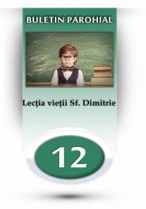 nr.12 - Lectia vietii Sf. Dimitrie