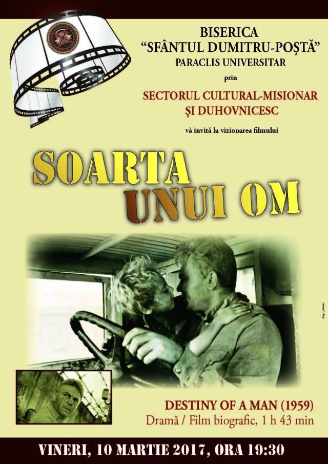 POSTER FILM SOARTA UNUI OM